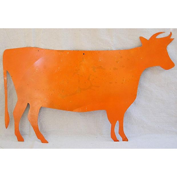 Reclaimed Metal Dairy Cow Silhouette - Image 2 of 3