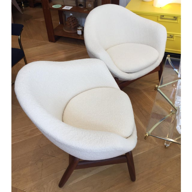 "Danish Modern Mid-Century Ib Kofod-Larsen ""Pot"" Chairs- a Pair For Sale - Image 3 of 10"