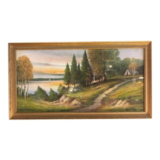 Pastel Landscape Painting by Andrew Severin Gunderson For Sale