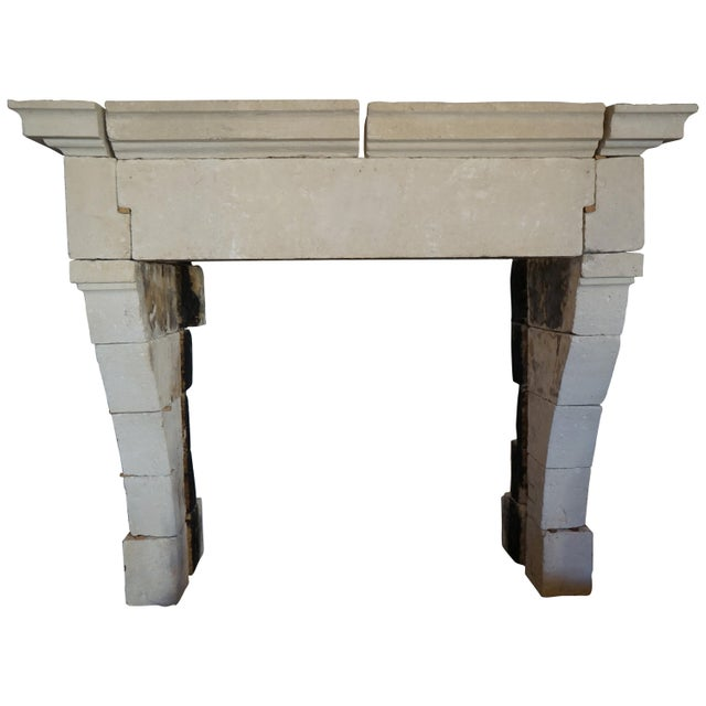 Stone Louis XIII Style French Limestone Mantel, circa 1650 For Sale - Image 7 of 7