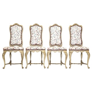 Louis XV Carved Side Chairs, Set of 4