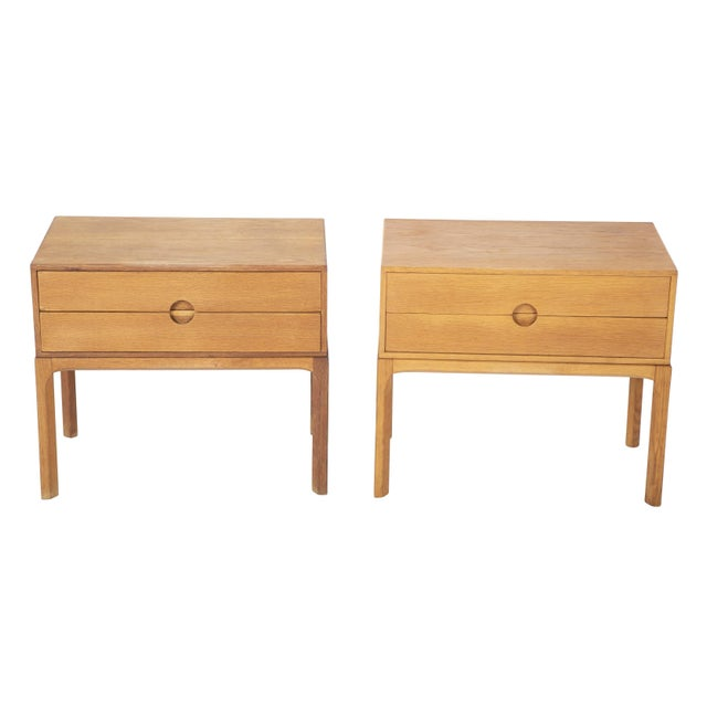 Tan Danish Oak Night Stands by Aksel Kjersgaard - a Pair For Sale - Image 8 of 13