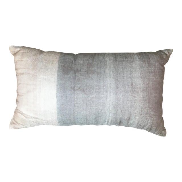 West Elm Mauve & Lavender Silk Pillow For Sale