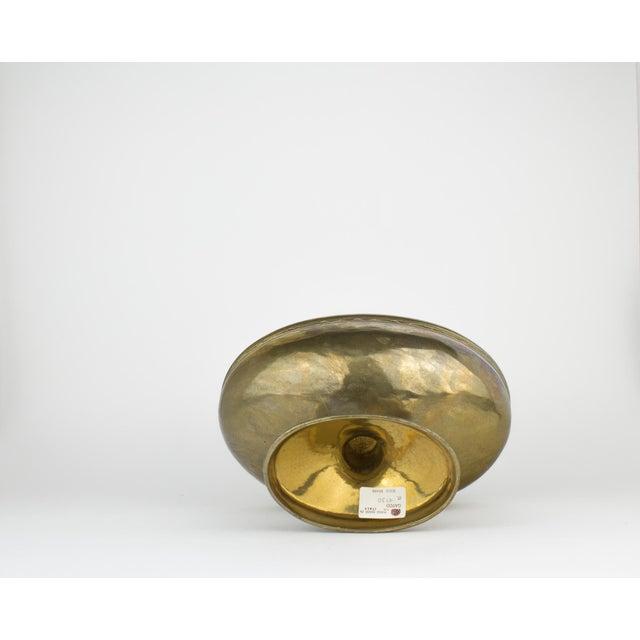Vintage Brass Pedestal Bowl - Image 7 of 11