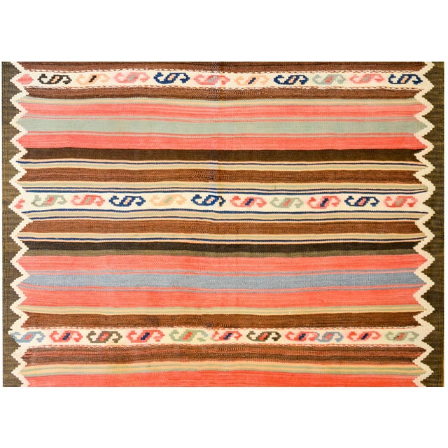 Islamic Early 20th Century Shahsevan Kilim Runner For Sale - Image 3 of 7