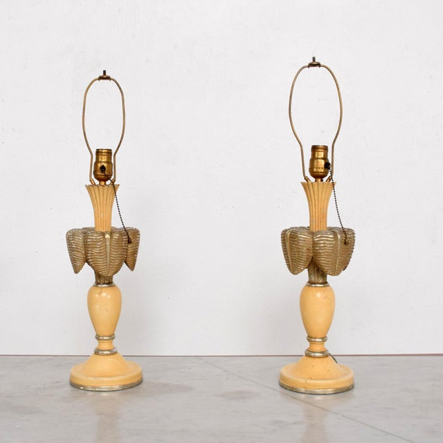1940s Neoclassical Sculptural Table Lamps, Circa 1940s For Sale - Image 5 of 12