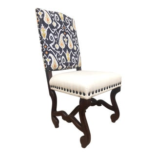2010s Ikat Back Side Chair For Sale