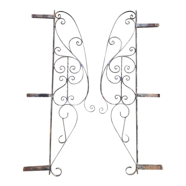 Architectural Iron Panels - a Pair For Sale