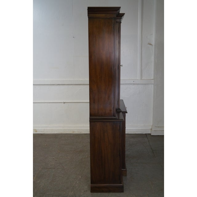 Chippendale Henkel Harris Mahogany Chippendale Style London Breakfront For Sale - Image 3 of 10