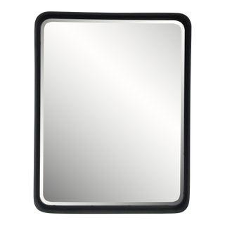 Metal Vanity Mirror or Tray in Black For Sale