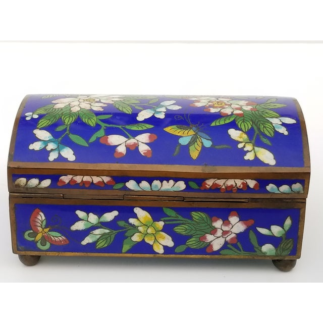 Antique Chinese Cloisonne Box For Sale - Image 5 of 11