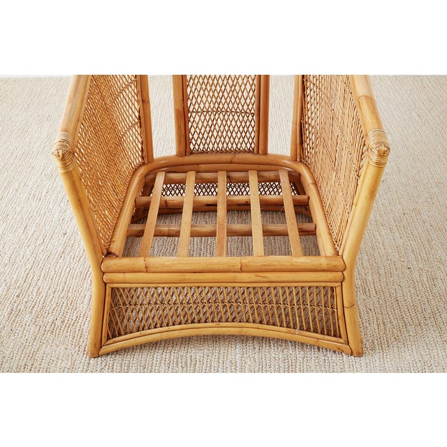 Midcentury Bamboo Rattan Wicker Lounge Chair For Sale In San Francisco - Image 6 of 13