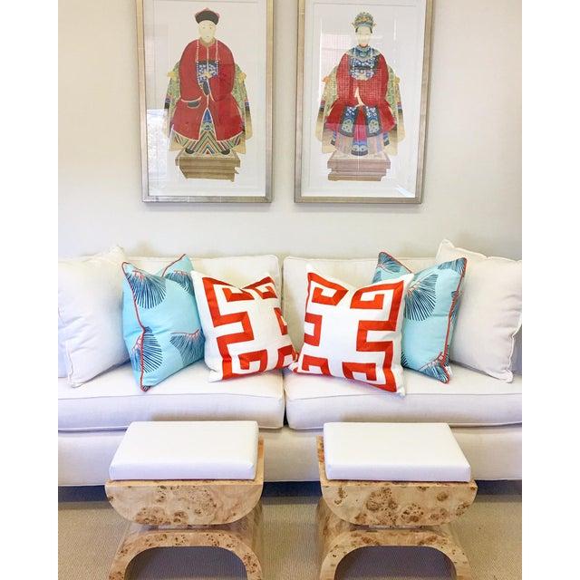 "Asian ""Emperor Statuette"" Framed Print For Sale - Image 3 of 3"