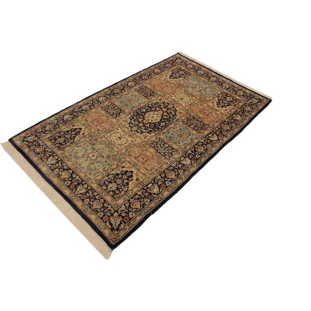 1980s Vintage Bokhara Wanetta Wool Rug - 4′2″ × 6′10″ For Sale - Image 4 of 8