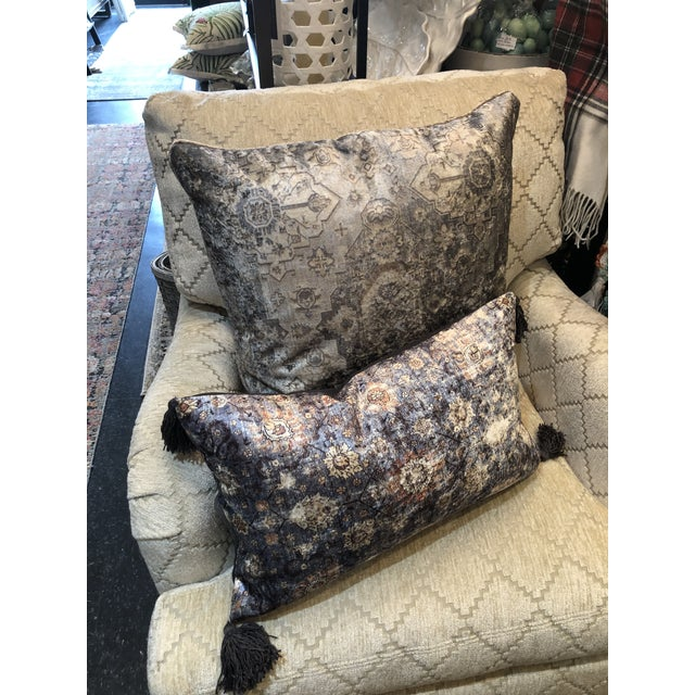 2020s Moroccan Inspired Patterned Pillow from Kenneth Ludwig Home For Sale - Image 5 of 6