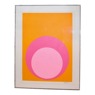 Double Dot in Pinks in Acrylic Box For Sale