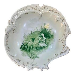 Rosenthal Monbijou Antique Dish, Young Girl With Lambs For Sale