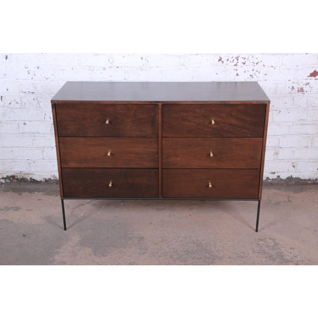 Planner Group Paul McCobb Planner Group Iron Base Six-Drawer Dresser or Credenza For Sale - Image 4 of 11