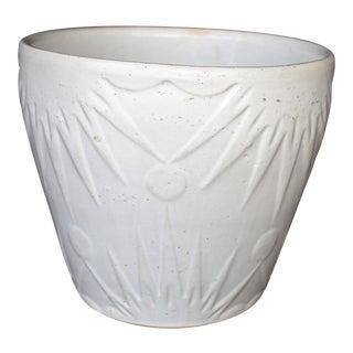 McCoy White Cache Pot