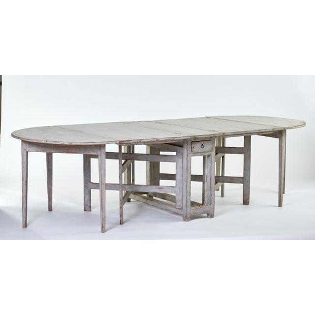 Gray Early 19th Century Antique Swedish Dining Table For Sale - Image 8 of 8