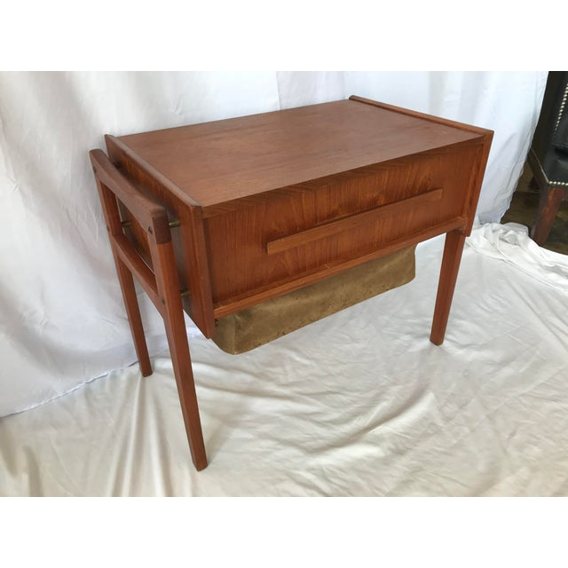 Vintage Danish Sewing Side Table For Sale - Image 13 of 13