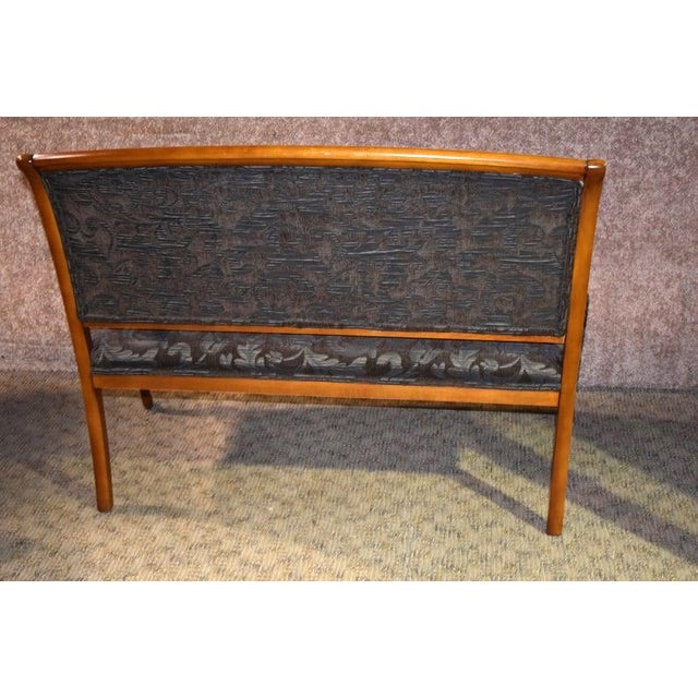 Italian 1980s Vintage Italian Provincial Style Settee For Sale - Image 3 of 13