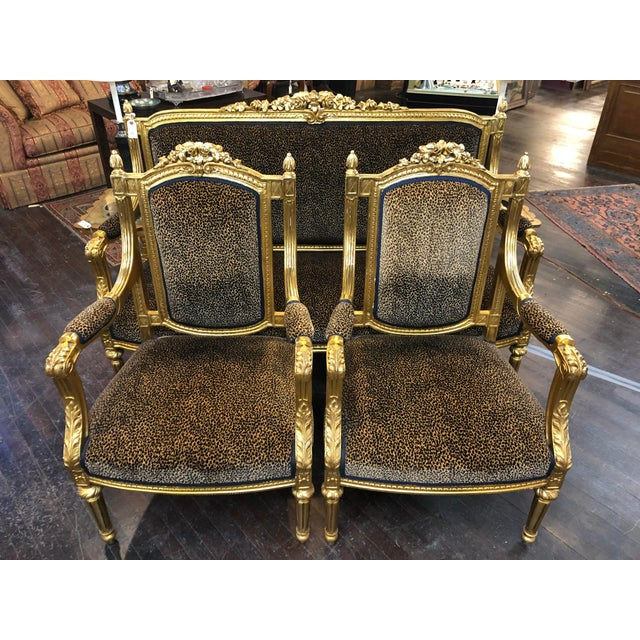Gold French Louis Gold Gilt Chairs - a Pair For Sale - Image 8 of 10