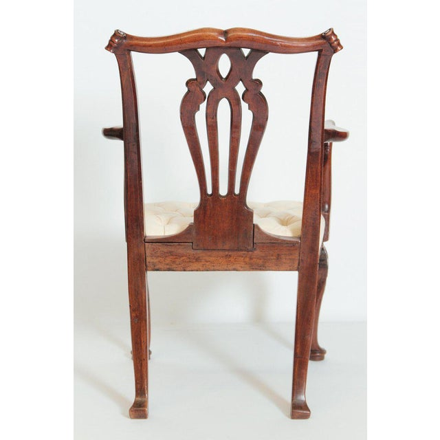 18th Century Chippendale Mahogany Armchair For Sale - Image 4 of 12