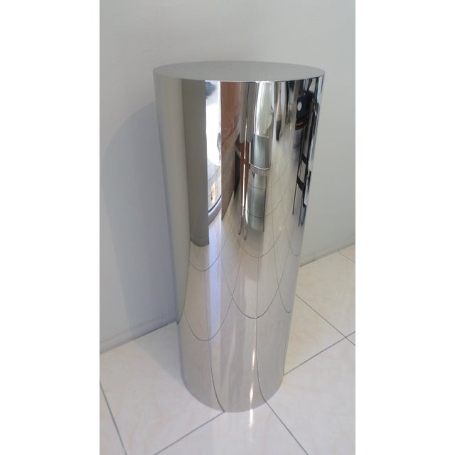 "This ""CT"" Drum Art Pedestal was manufactured by Brueton in the mid-1990's for a Guy Dreier-designed residence at The..."