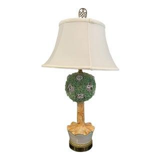 Ceramic Topiary Owl Lamp For Sale