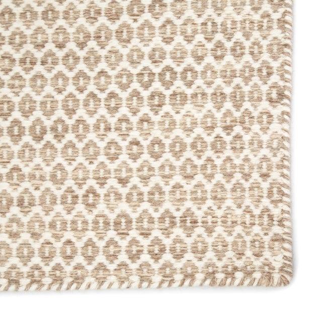 Contemporary Jaipur Living Pompano Handmade Trellis Beige/ Ivory Area Rug - 7′1″ × 9′10″ For Sale - Image 3 of 6