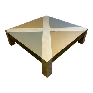 Mirrored and Chrome Coffee Table For Sale