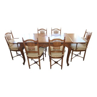 20th Century French Country Expandable Dining Set - 7 Pieces For Sale