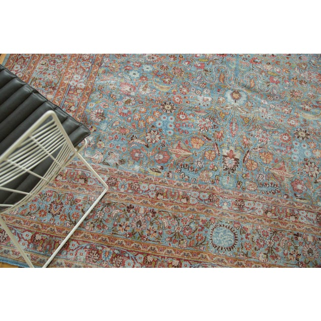 "Vintage Distressed Meshed Carpet - 8'8"" x 11'4"" - Image 7 of 10"