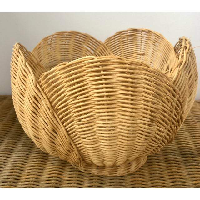 Adorable! This year round wicker basket is structurally in the shape of a blooming flower. The vintage piece would place...