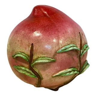 Rare Chinese Export Altar Fruit of a Standing Peach
