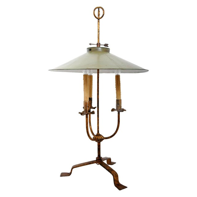 Vintage Gilt Metal Italian Giacometti Style Lamp For Sale In San Francisco - Image 6 of 6