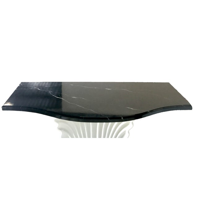 Black & White Shell Console Table - Image 4 of 6