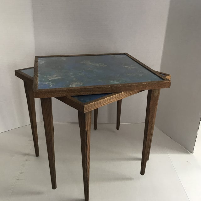 Mid-Century Stacking Tables With Glass Tops - A Pair For Sale - Image 13 of 13
