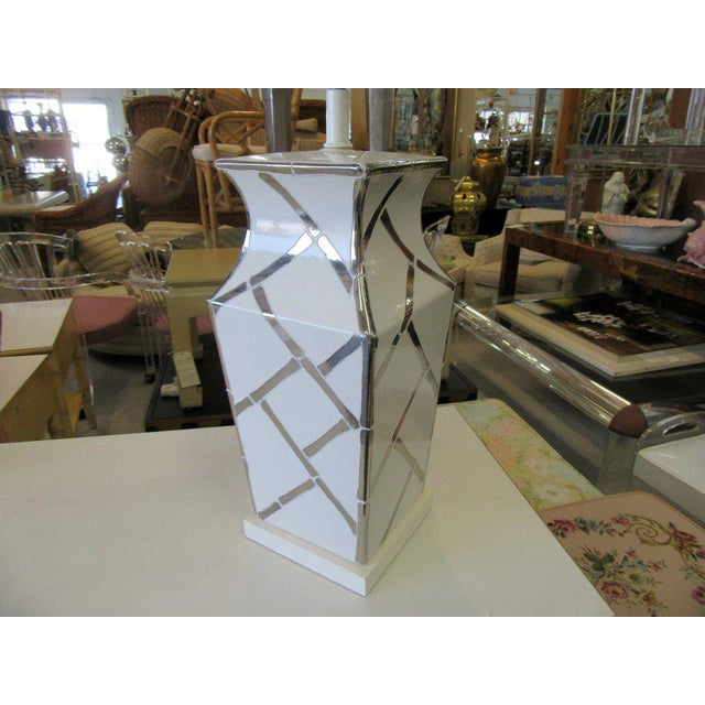Faux Bamboo Chippendale Lamp - Image 3 of 7