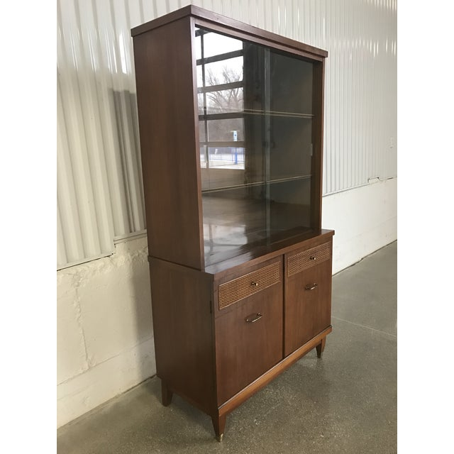 Mid-Century Walnut China Cabinet - Image 3 of 9