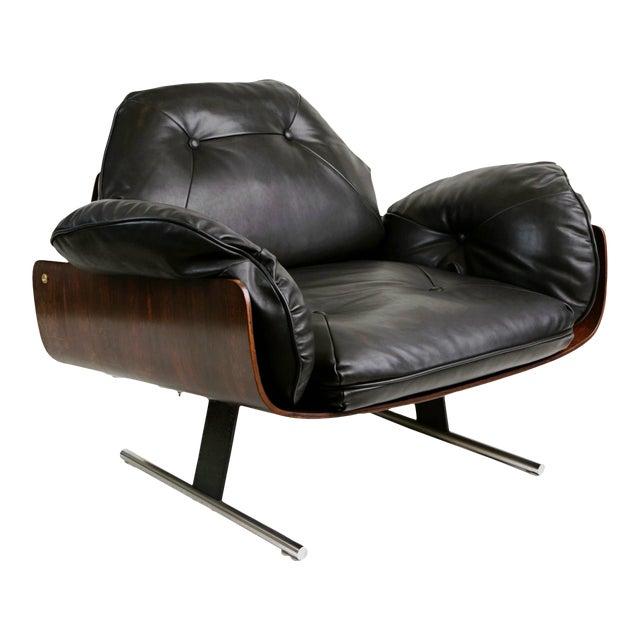 "1960s Vintage Jorge Zalszupin Brazilian ""Presidencial"" Jacaranda Armchair For Sale"