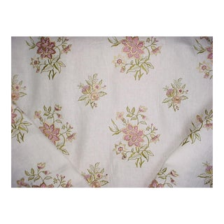 Brunschwig & Fils Marwood Spring Embroidery Upholstery Fabric - 10 1/4 Yards For Sale