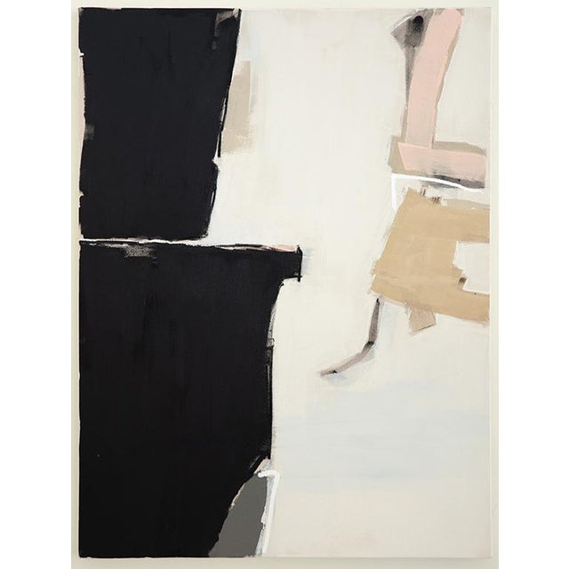 Large scale abstract work by artist Holly Addi. Hand built and stretched frame. 2 1/2 deep from wall. Mixed Medium -...