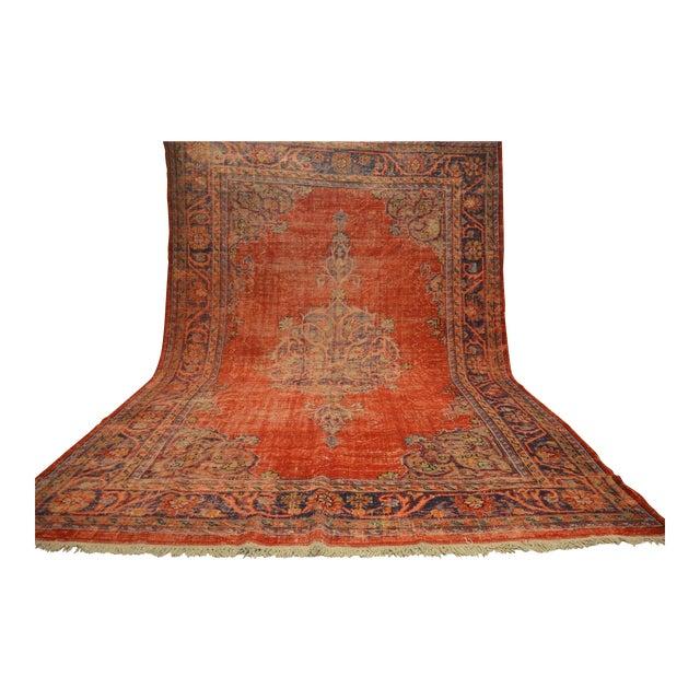Faded Anatolian Turkish Rug - 8′8″ × 12′11″ - Image 4 of 11
