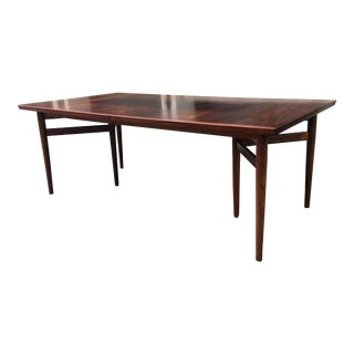 Arne Vodder Rosewood Extension Dining Table For Sale