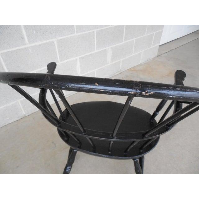 Wood Antique Hoop Back Windsor Armchair For Sale - Image 7 of 10