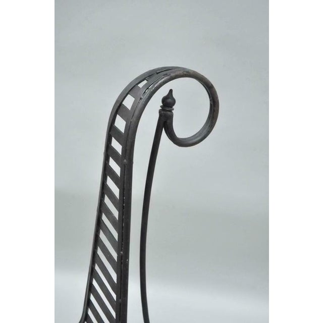 Late 20th Century Vintage Whimsical Steel Iron Spine Lounge Chairs After André Dubreuil - A Pair For Sale - Image 5 of 10