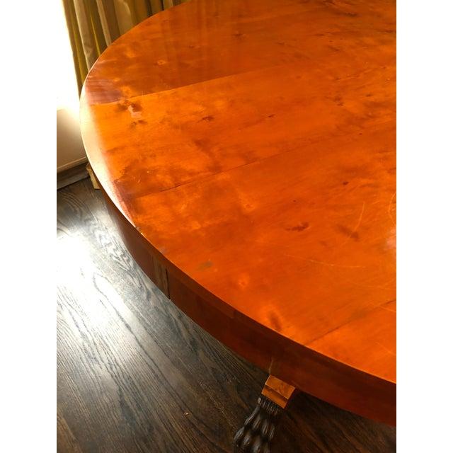 Biedermeier Antique Biedermeier Round Center Table For Sale - Image 3 of 13