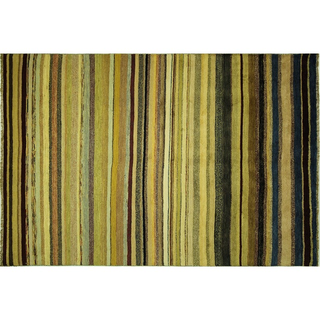 "Oushak Collection Striped Gabbeh Rug - 5'7"" x 8'1"" - Image 1 of 10"